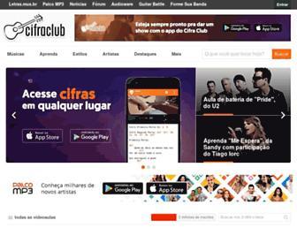 cifraclub.com.br screenshot