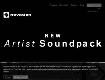 global.novationmusic.com screenshot
