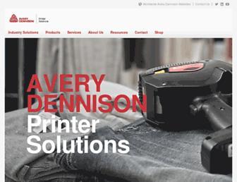 printers.averydennison.com screenshot