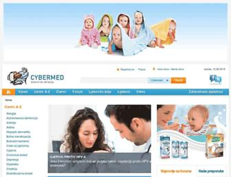 Main page screenshot of cybermed.hr