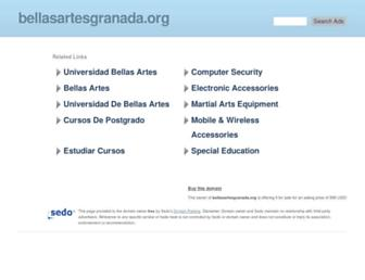 Main page screenshot of bellasartesgranada.org