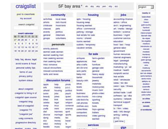 sfbay.craigslist.org screenshot
