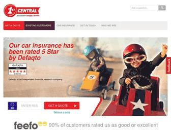 1stcentralinsurance.com screenshot