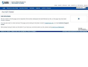 www2.sas.com screenshot