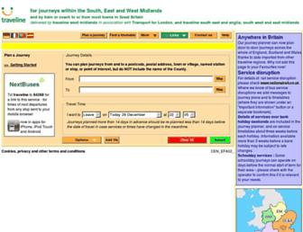 travelinemidlands.co.uk screenshot