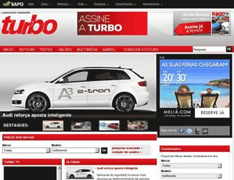 Main page screenshot of turbo.sapo.pt