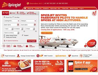 Thumbshot of Spicejet.com