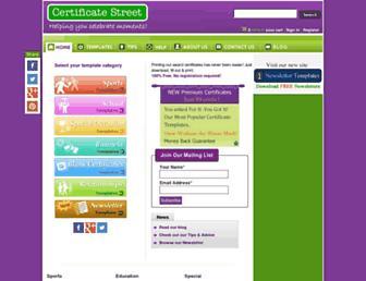 certificatestreet.com screenshot