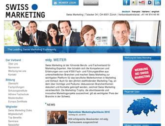 swissmarketing.ch screenshot