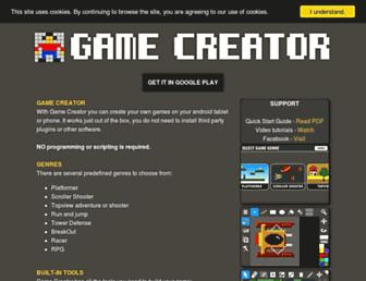 androidgamecreator.com screenshot