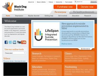 blackdoginstitute.org.au screenshot