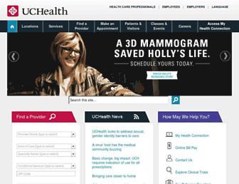 uchealth.org screenshot