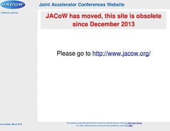 accelconf.web.cern.ch screenshot