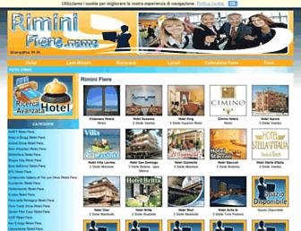 Main page screenshot of fiera-rimini.abcvacanze.it