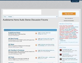 Main page screenshot of audiokarma.org
