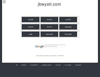 jbwyatt.com screenshot