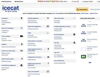 icecat.co.uk screenshot