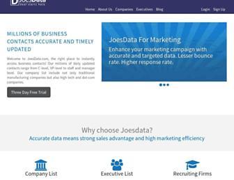 joesdata.com screenshot