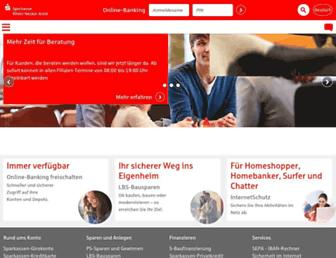 Main page screenshot of sparkasse-rhein-neckar-nord.de