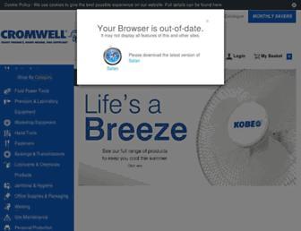Main page screenshot of cromwell.co.uk