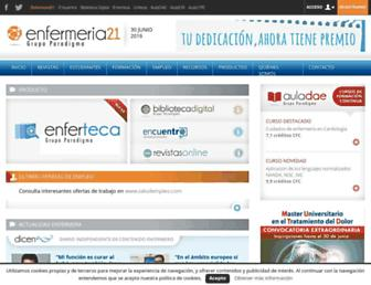 enfermeria21.com screenshot