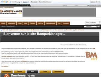 Main page screenshot of web.banquemanager.net