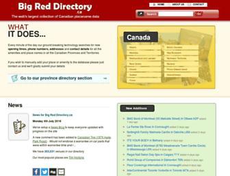 bigreddirectory.ca screenshot