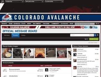 fans.avalanche.nhl.com screenshot