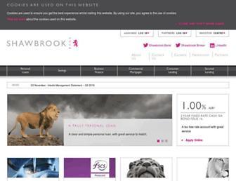 shawbrook.co.uk screenshot