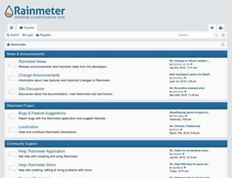 forum.rainmeter.net screenshot