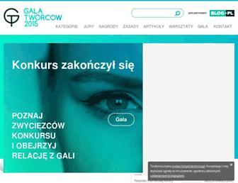 Main page screenshot of blogroku.pl