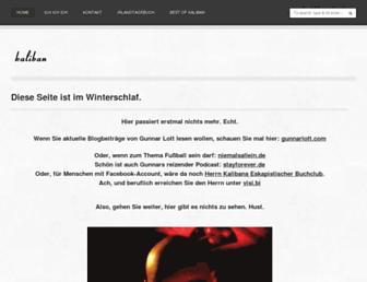 Main page screenshot of kaliban.de