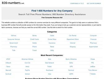 800-numbers.net screenshot