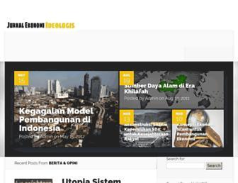 Main page screenshot of jurnal-ekonomi.org