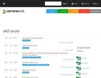 uzmanim.net screenshot
