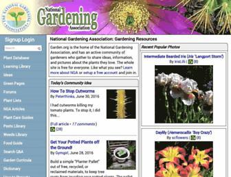 Main page screenshot of garden.org