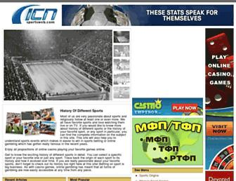 icnsportsweb.com screenshot