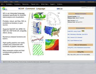 ncl.ucar.edu screenshot