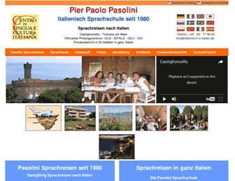 Main page screenshot of italienisch-in-italien.de