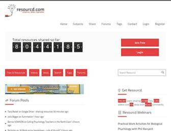 resourcd.com screenshot