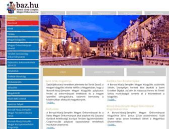 Main page screenshot of baz.hu