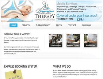 inyourhometherapy.com screenshot