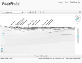 peakfinder.org screenshot