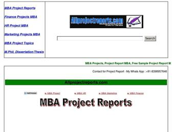 Thumbshot of Allprojectreports.com