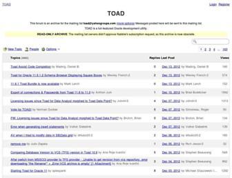 toad.10940.n7.nabble.com screenshot