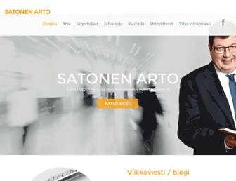Main page screenshot of satonen.fi