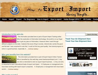 howtoexportimport.com screenshot