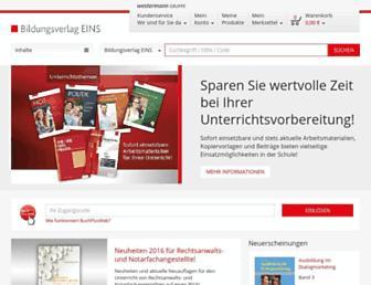 Main page screenshot of bildungsverlag1.de