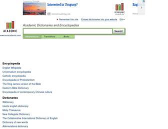 enacademic.com screenshot