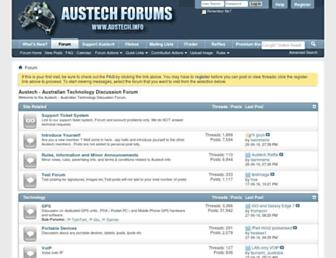 Main page screenshot of austech.info